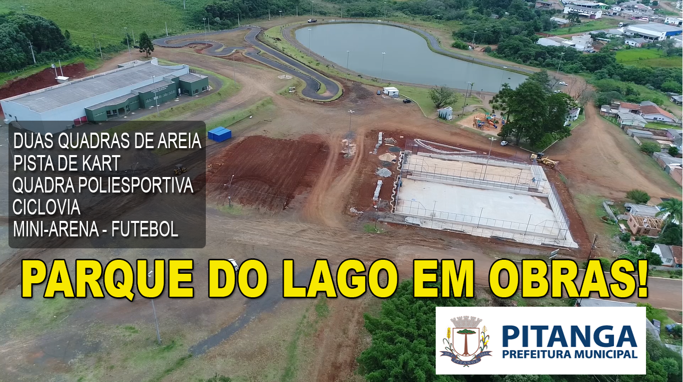 OBRAS NO PARQUE DO LAGO